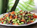 素食养生:冬菇毛豆