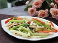 素食养生:芹菜杏鲍菇