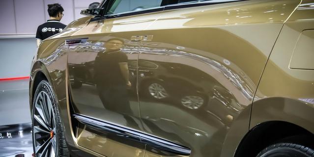 红旗全新SUV亮相车展 网友:比特斯拉前卫