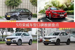 5月荣威车型口碑排行榜-荣威e950新能源三厢综合评分第一