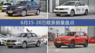 朗逸/速腾等6月15-20万欧系车型销量汇总