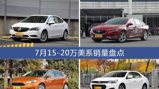 7月15-20万美系车型销量数据揭晓,用户愿意为哪些车买单?
