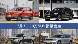 7月35-50万SUV车型销量数据揭晓,用户愿意为哪些车买单?