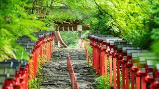京都洛北貴船神社的四季風采