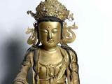 韩国大兴寺金铜观音菩萨轮王像