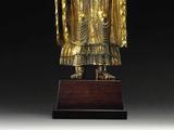 明代金铜像:弥勒佛接引立像