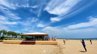 北戴河新區的海邊,有一座孤獨的咖啡館,空調屋、冰咖啡