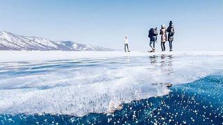 結冰的貝加爾湖,來自大自然的饋贈