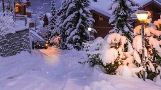瑞士冬日的暮色