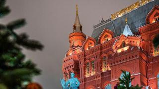 莫斯科紅場的雪夜