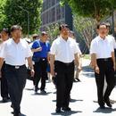 賀國強回母校 教育部副部長朱之文陪同參觀