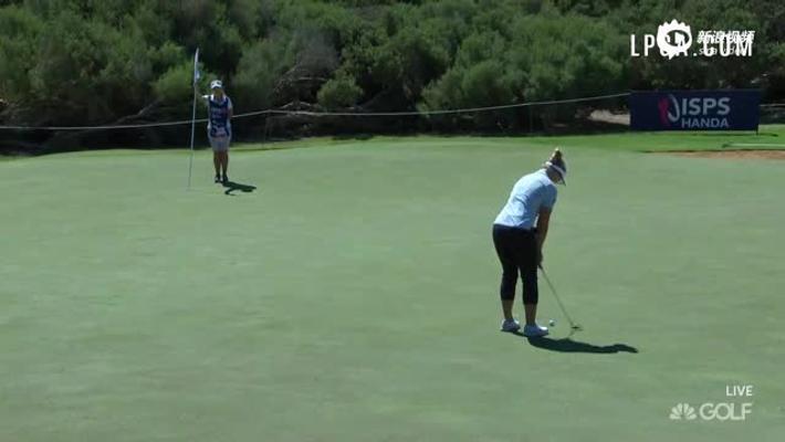 澳洲女子公开赛第二轮最佳球 亨德森精彩长推