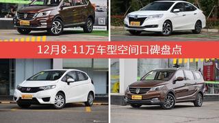 车主眼中空间大的8-11万车型排行榜,哪些车型能上榜?