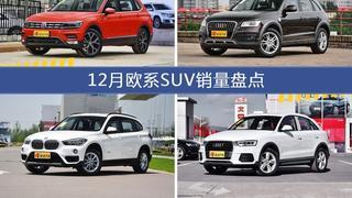 12月欧系SUV车型销量数据揭晓,用户愿意为哪些车买单?