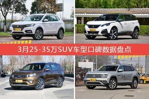 25-35万SUV车型车主综合评分排行榜,荣威eRX5新能源登顶!