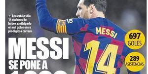 数据研究-梅西的1000球大关到底达成了吗?