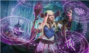 魔兽国外美女玩家COSPLAY 掌控魔法奥义的艾格文