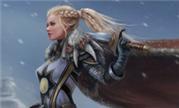 魔兽玩家同人画作分享:大雪中的银色北伐军战士