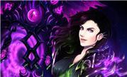 魔兽同人画作:美艳人类术士手执萨格拉斯的权杖