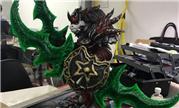 玩家历时一年3D打印母牛战雕像 为了战士的信仰