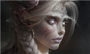 魔兽同人画:高贵典雅贵族气质 暗夜精灵女祭司