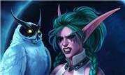 魔兽同人:暗夜精灵女祭司泰兰德 月夜战神形态