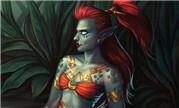 魔兽同人:性感赞达拉女巨魔 在丛林大河中沐浴