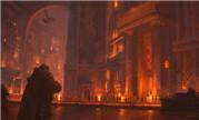 魔兽同人:气势恢宏 主城铁炉堡的平民区场景图