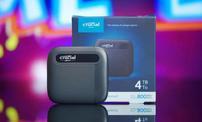 新浪游戏评测:Crucial 英睿达 X6 SSD 4TB 4TB游戏固态移动硬盘