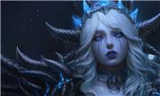 魔兽画作:冷艳系美人 冰霜巨龙小姐姐辛达苟萨