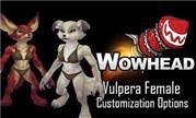 魔兽8.0女性狐狸人定制选项预览 目前非同盟种族