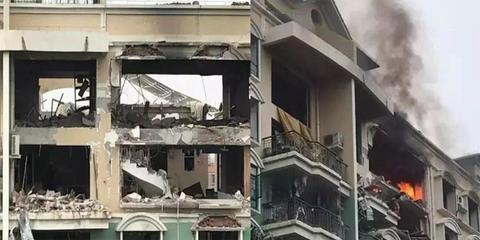 佛山煤气爆炸现场:有人从7楼跳下