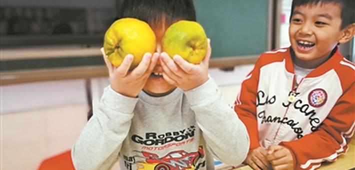 孩子们的橘子分享创意令人感叹