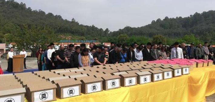 惠州举办海葬活动 122位逝者骨灰撒入大海
