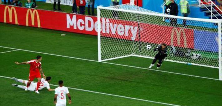 瑞士队2-1逆转塞尔维亚