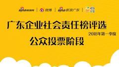 《广东企业社会责任榜》2018年第一季度评选投票启动