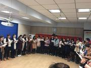 葛毓瀛老师在烟台市蓬莱第二实验小学开讲