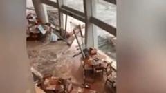 深圳:惊险!深圳一酒店大门被海水冲垮