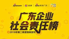 2018年第二季度《广东企业社会责任榜》发布