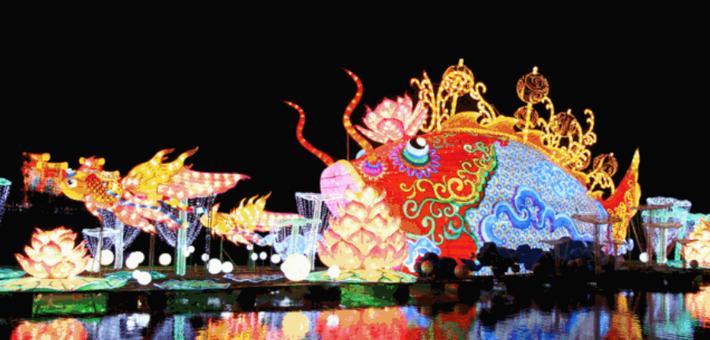 青秀山灯展延期至10月31日