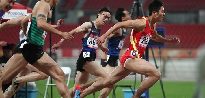 海南队选手夺冠全国田径男子100米决赛