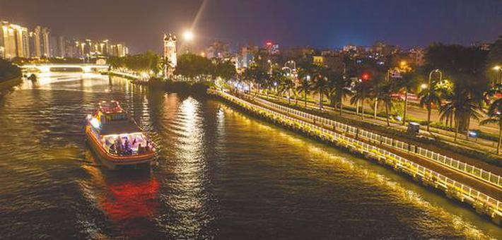 海甸溪夜景如画