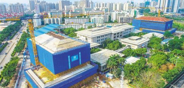 海南省图书馆二期主体结构完工