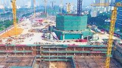 海口双子塔等项目加快建设 老机场上座座高楼拔地起
