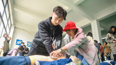 200名汉马医疗志愿者在武汉城市职业学院参加培训