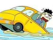 湖北一夫妻游玩落水 警民跳入水中扒开车门救出两人