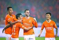 中超第6轮比赛:武汉卓尔1:1战平上海申花