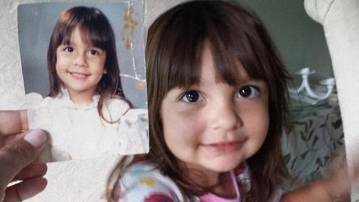 父母子女同年龄照片相似度惊人