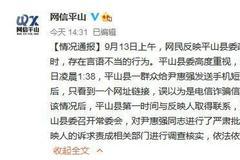 """河北平山通报""""政法委书记回复短信言语不当""""事件"""