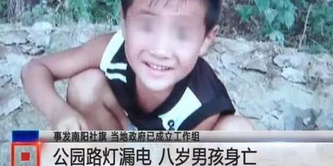 南阳八岁男孩公园玩耍被电身亡